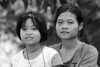 Two girls in Thai borderland close to Burma