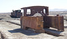 Steam locomotives. Abandoned ghost town of Humberstone, Chile. Site of a former nitrate oficina (processing plant).