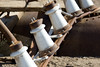 Porcelain Insulators. Abandoned ghost town of Humberstone, Chile. Site of a former nitrate oficina (processing plant).