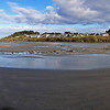 iPhone panorama across the Yachats (yah-hots) River toward the village of Yachats.