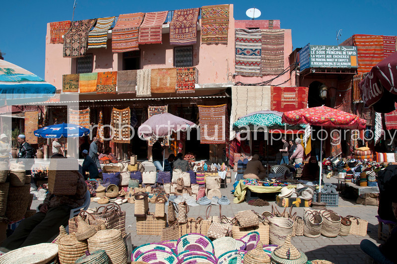 Marrakech - Market souk at Rahba Qedima in Medina district, Marrakech, Morocco
