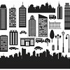 Vector Silhouettes of Cities
