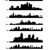 major city skyline-silhouettes