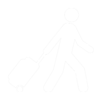 Walking with Rolling Suitcase - White