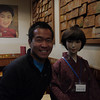 Me with my lunch date, waiting for our okonomiyaki // Gion distrct, Kyoto