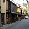 Looking into Gion, the famous geisha quarter // Kyoto