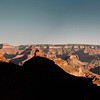 A panorama of the sunrise while heading down the Bright Angel trail from the South rim