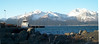 A view of the mountains overlooking Seward and the Bay, beyond which are fiords and glaciers.
