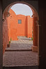 Arched doorway in Santa Catalina Monastery, Arequipa, Peru