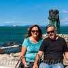 Sandy and Mike on the Viareggio waterfront