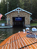2013-07-13 - Driving into Charles Wilson's boat house on Bottle Bay in Sagle, ID, USA