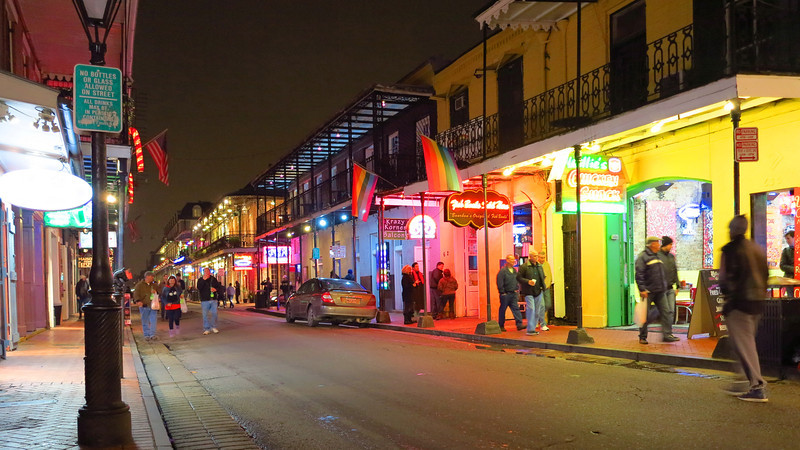 quiet evening on Bourbon Street