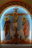 St Photios Shrine w/ Byzantine style frescos, dedicated to 1st colony of Greeks who came to America in 1768