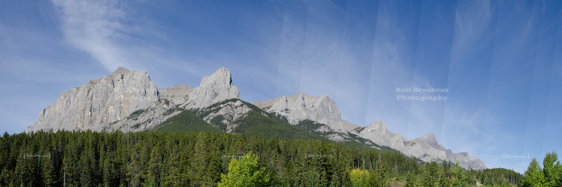 Mountain Range near Canmore
