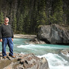 Gary at Natural Bridge in Yoho National Park in Alberta, Canada