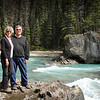 Becki and Gary at Natural Bridge in Yoho National Park in Alberta, Canada