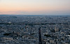 Sunset and Bastille Day Fireworks viewed from Tour Montparnasse