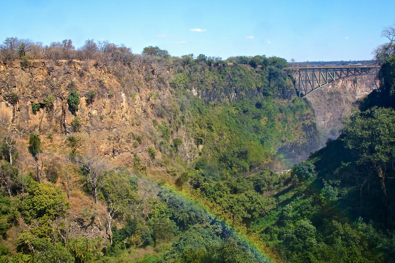 Victoria Falls Bridge, between Zambia and Zimbabwe