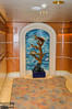 One of the many alcoves decorated with a marine theme.
