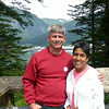 At the overlook in Skagway
