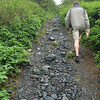 Whittier, AK - Portage Pass Trail: ...and quickly changes to steep
