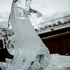 Dolphin ice sculpture