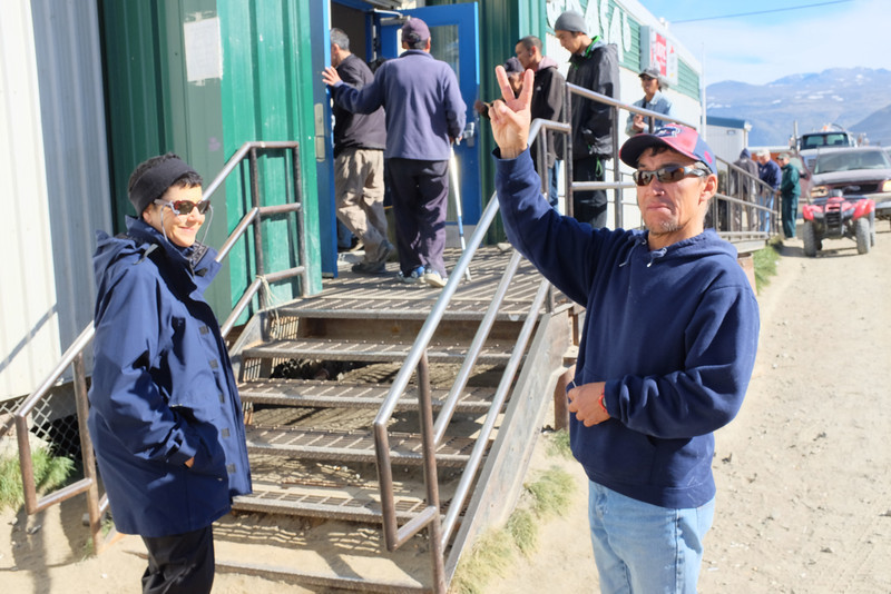 Opening Rush at the Pangnirtung Supermarket