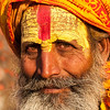 Face of a Raj King. Attire of a Holy Man. Pashupatinath, Nepal