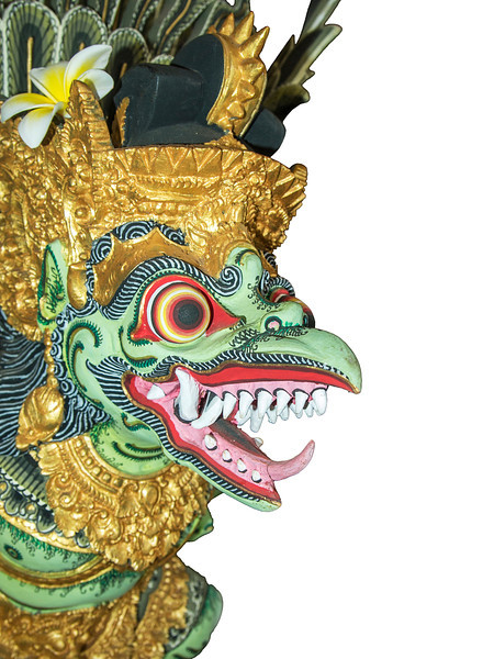 Painted Bali Dragon, Isolated