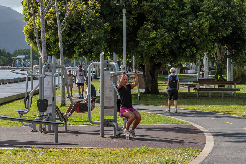 Exercise walkway along the Cairns waterfront