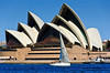 Sailing in front of the Sydney Opera House<br /> Sydney Harbour<br /> New South Wales<br /> Australia