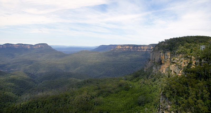 The Jamison Valley from the skycar<br /> Katoomba - NSW<br /> Australia - 6 Oct 2005