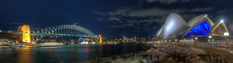Sydney Harbour Bridge and Opera House by Night