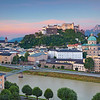 Salzburg, Austria. Image of Salzburg during twilight blue hour.