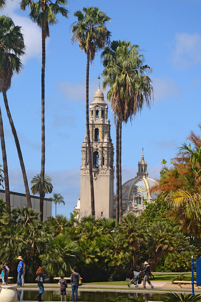 Balboa Park California Building on a nice Spring morning.
