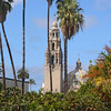 Balboa Park view with California tower on a nice Spring morning.