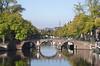 River Amstel and Lucas Jansz Sinckbrug bridge Amsterdam