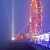 Ferris wheel, at Blackpool on a misty day