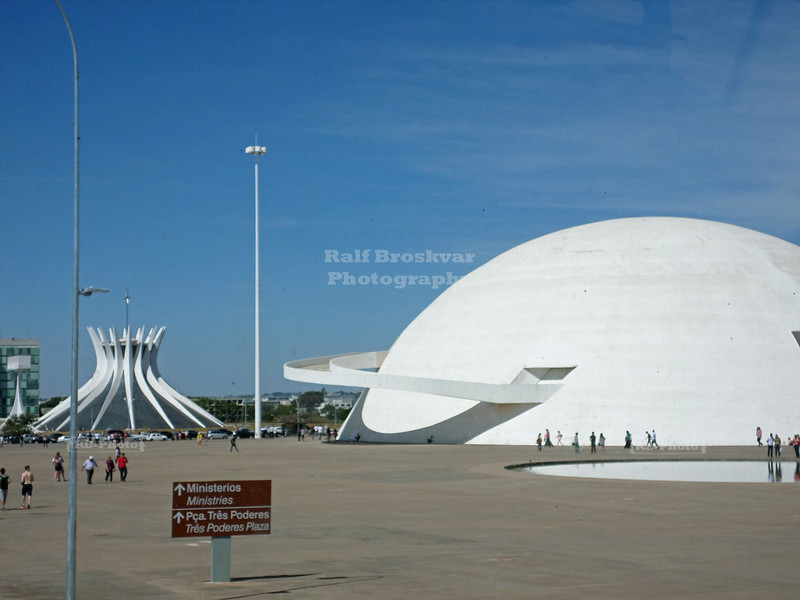 National Museum and Metropolitan Cathedral in Brasilia