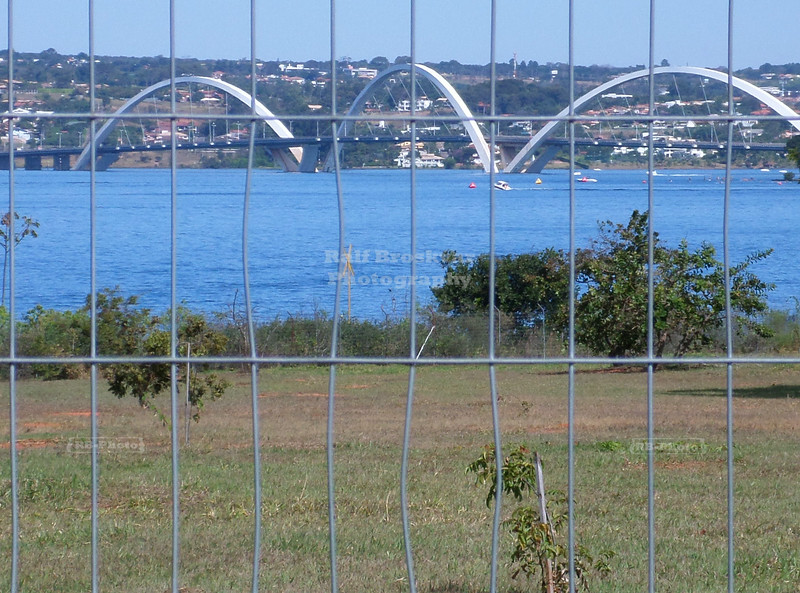 JK bridge as seen from Palácio da Alvorada in Brasilia