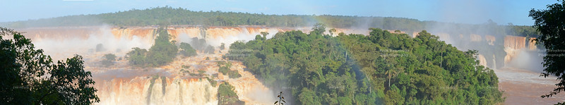 Panoramic shot of the Iguazu Falls