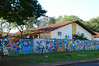 Colorful wall in Foz do Iguaçu