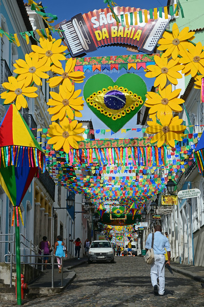 Pelourinho, the historic center of Salvador