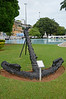 Iron anchor at the headquarters of the 2nd Naval District in Salvador da Bahia