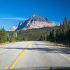 Mount Fitzwilliam on the Yellowhead Highway to Jasper National Park