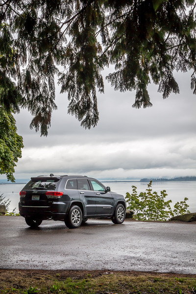 Our Jeep Grand Cherokee & Puget Sound, from Chuckanut Drive, Washington