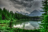 Herbert Lake - this time with rain clouds