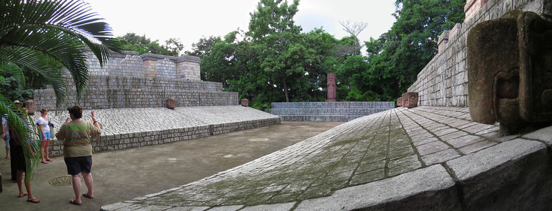 Replica of ball court in Copan