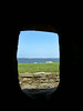 Inside a canon window at Fort Sumter, looking into Charleston Harbour