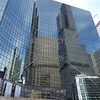 Reflections of downtown buildings and architecture in Chicago, illinois.